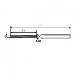 Vajer 5mm lågroterande