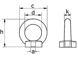 Gaffel terminal 6mm