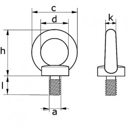 Vantskruv M10 Rostfri AISA 316