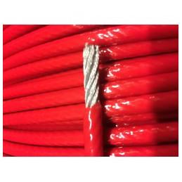 Vajer 5mm PVC klädd röd
