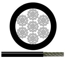 Vajer 3mm PVC-klädd Svart